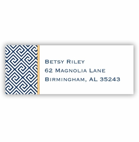 boatman geller greek key navy address labels