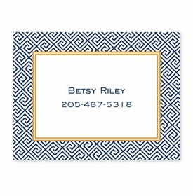 boatman geller greek key navy calling card