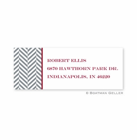 boatman geller herringbone address labels