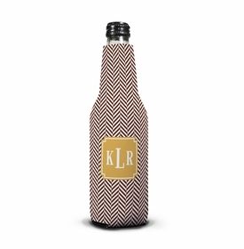 boatman geller herringbone chocolate koozie