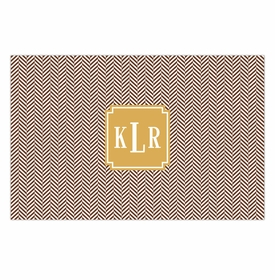 boatman geller herringbone chocolate placemat