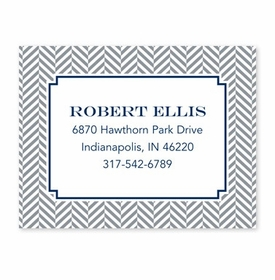 boatman geller herringbone gray calling card