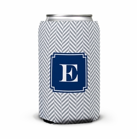 boatman geller herringbone gray can koozie