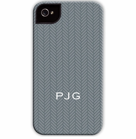 boatman geller herringbone gray cell phone case