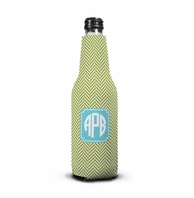 boatman geller herringbone jungle bottle koozie