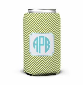 boatman geller herringbone jungle can koozie