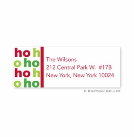 boatman geller ho ho ho address labels