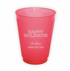 Holidays Outlined Round Cups