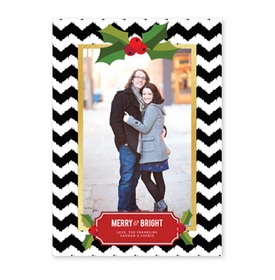 boatman geller holly chevron black photocard