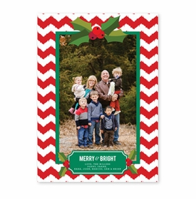 boatman geller holly chevron red photocard