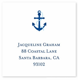 boatman geller icon anchor square sticker