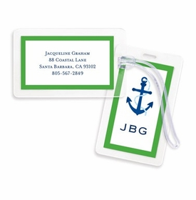 boatman geller icon anchor with border bag tags