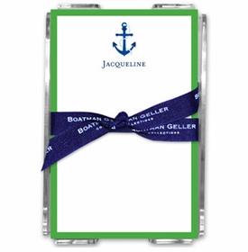 boatman geller icon anchor with border note sheets in the acrylic