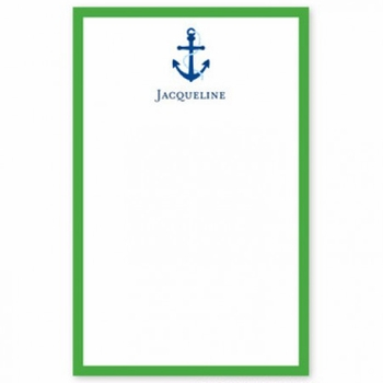 boatman geller icon anchor with border notepad