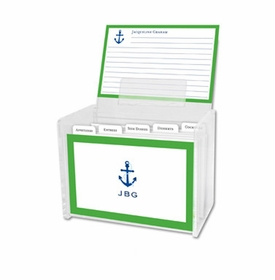 boatman geller icon anchor with border recipe box