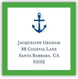boatman geller icon anchor with border square sticker