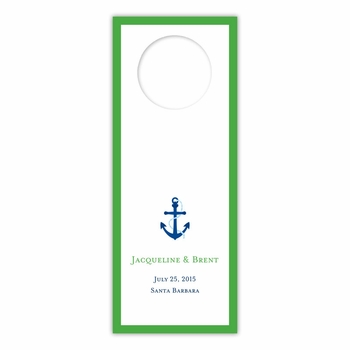 boatman geller icon anchor with border wine tags