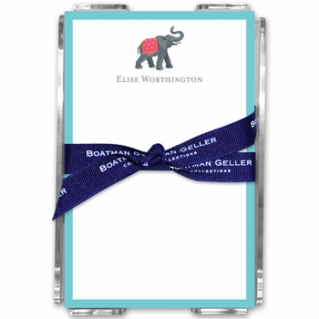 boatman geller icon elephant with border acrylic note sheets