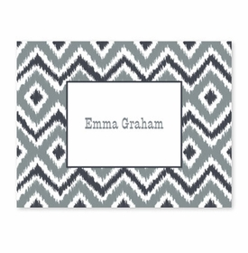 boatman geller ikat gray fold over note
