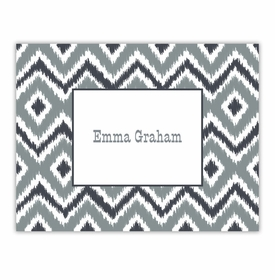 boatman geller ikat gray foldover notes