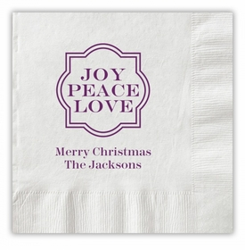 Joy Peace Love Napkins