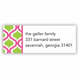 boatman geller kate raspberry & green address labels