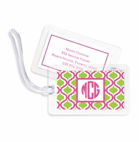 boatman geller kate raspberry & lime bag tags