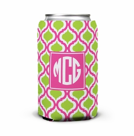 boatman geller kate raspberry & lime can koozie