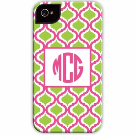 boatman geller kate raspberry & lime cell phone case