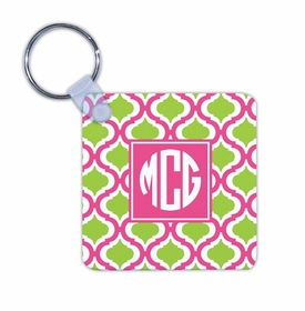 boatman geller kate raspberry & lime key chain