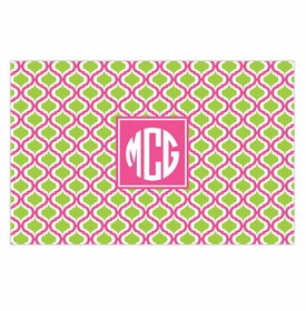boatman geller kate raspberry & lime placemat