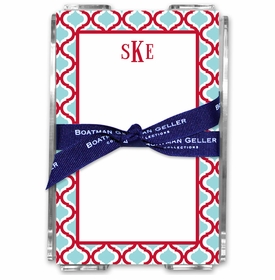 boatman geller kate red & teal acrylic note sheets