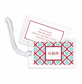 boatman geller kate red & teal bag tags