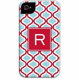 boatman geller kate red & teal cell phone case