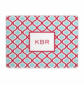 boatman geller kate red & teal cutting board