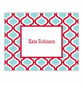 boatman geller kate red & teal foldover note