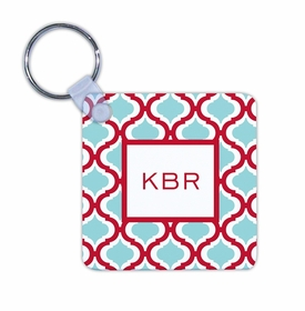 boatman geller kate red & teal key chain
