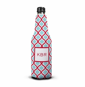 boatman geller kate red & teal koozie