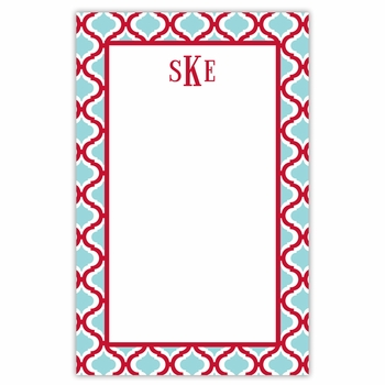 boatman geller kate red & teal notepad
