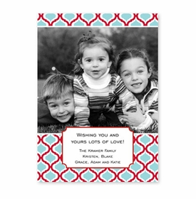 boatman geller kate red & teal photocard