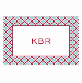 boatman geller kate red & teal placemat