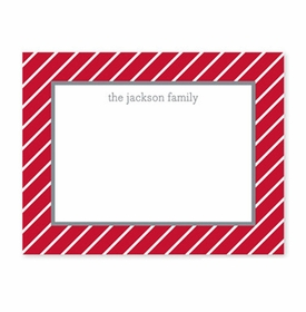 boatman geller kent stripe cherry small flat notecard