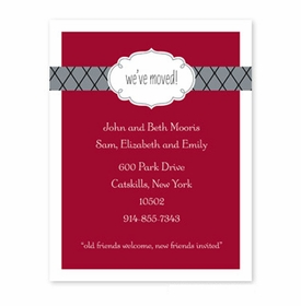 boatman geller label chic moving cranberry small flat notecard