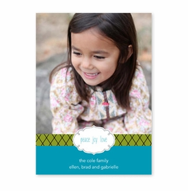 boatman geller label chic turquoise photocard