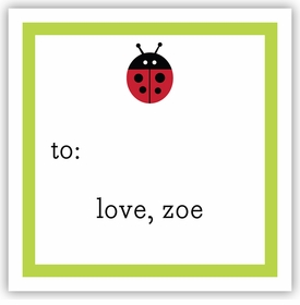 boatman geller ladybug square sticker