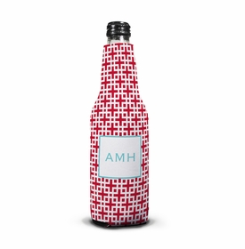 boatman geller lattice cherry bottle koozie
