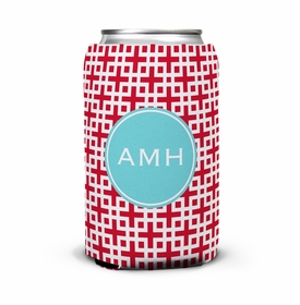 boatman geller lattice cherry can koozie