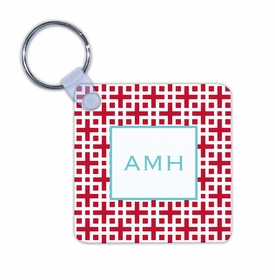 boatman geller lattice cherry key chain