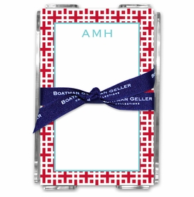 boatman geller lattice cherry note sheets in acrylic