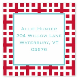 boatman geller lattice cherry square sticker